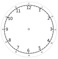 clock faces free printable clock faces with variations that include minutes matematyka. Black Bedroom Furniture Sets. Home Design Ideas
