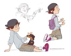 The dog is so cute!! I could see a animated short happening with these characters. *hint* *hint* ;D