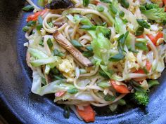 Stir-Fried Noodles with Winter Vegetables from Not Eating Out in New York