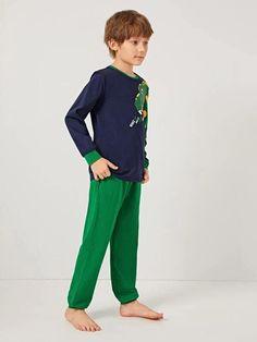 Boys Cartoon Graphic Triangle Trim Top And Pants PJ Set – Agodeal Barefoot Kids, Satin Pj Set, Cartoon Letters, Sleepwear & Loungewear, Pj Sets, Printed Tank Tops, Spandex Material, Pajama Set