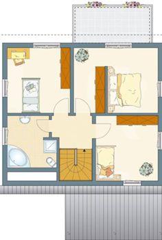 Hier finden Sie Einfamilienhaus-Grundrisse von 120 - 150 m² Wohnfläche.
