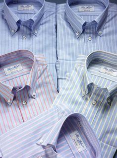 7ecf7a3db Blue Oxford Button Down Collar Shirts Colarinho Camisa
