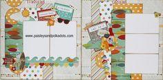 Summer Lovin 2 page layout from Paisleys & Polka Dots