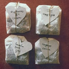 Make your own tea blends for gifts...
