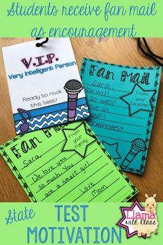 fan mail before milestones Rock Star Theme, Test Taking Strategies, Writing Test, Test Day, Student Motivation, Standardized Test, Fifth Grade, Test Prep, Elementary Schools