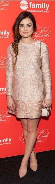 Lucy Hale: Dress – Stella McCartney  Purse – Chloe  Jewelry – Dana Rebecca Designs and EF Collection