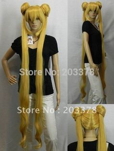 Sailor Moon.Tsukino Usagi long gold cosplay Wig 5pcs/lot mix order