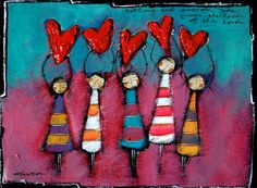 """Olivia Botha """"Nothing will separate you from the love of the Lord"""" Abstract Canvas Art, Angel Art, Heart Art, Whimsical Art, Art Plastique, Elementary Art, Hobbies And Crafts, Rock Art, Painting Inspiration"""