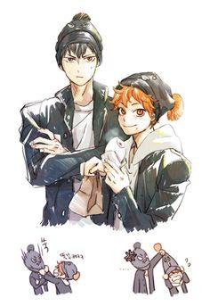 https://twitter.com/To_Dot_ Kageyama and Hinata (Haikyuu)
