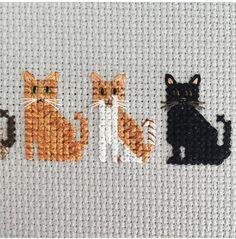 New embroidery ideas cat cross stitch ideas Cat Cross Stitches, Cross Stitch Bookmarks, Cross Stitch Cards, Cross Stitch Borders, Cross Stitch Animals, Cross Stitch Designs, Cross Stitching, Cross Stitch Embroidery, Cross Stitch Patterns