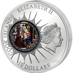 Cook Islands 2012 10$ Church of St. Catherine - BETHLEHEM Windows Of Heaven Proof Silver Coin :: Top World Coins