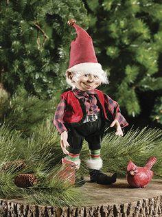Elf with Glasses - Red Christmas Elf, Christmas Carol, Vintage Christmas, Christmas Ornaments, Xmas, Elves And Fairies, Fantasy Life, Scrap Metal Art, The Elf