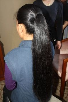 Long Silky Hair, Long Black Hair, Super Long Hair, Thick Hair, Long Hair Ponytail, Straight Ponytail, Ponytail Hairstyles, Trendy Hairstyles, Long Indian Hair