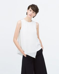 Image 2 of COMBINED TOP WITH STRIPED APPLIQUE from Zara