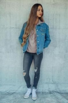 41 Latest Ideas for Teen Girl In 2019 - casual girl outfits - Casual Outfit Casual Outfits For Girls, Spring Outfits For Teen Girls, Spring Outfits For School, Casual School Outfits, Cute Spring Outfits, Cute Teen Outfits, Spring Fashion Outfits, College Outfits, Winter Outfits