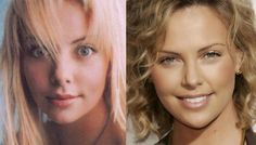Charlize Theron also - all the so-called beauties are almost all fake.how sad Plastic Surgery Photos, Celebrity Plastic Surgery, Plastic Surgery Before After, Nose Jobs, Celebs Without Makeup, Celebrities Before And After, Power Of Makeup, Lip Injections, Rhinoplasty