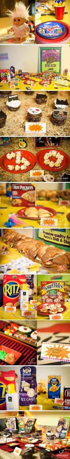 90's party! Some great, easy party decoration and food ideas for a 1990s theme.