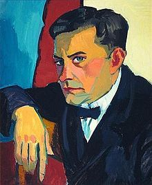 Portrait of a Man, Berlin, (circa 1923),Laubser