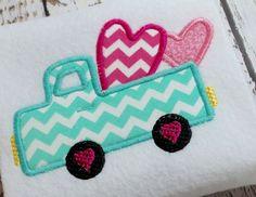 Applique truck machine embroidery design by BulandsCraftBoutique