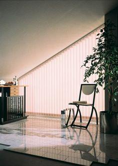 vertical blind placed inside the recess sichtschutz pinterest dachschr ge sichtschutz und. Black Bedroom Furniture Sets. Home Design Ideas