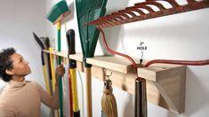Une étagère pour les outils de jardin