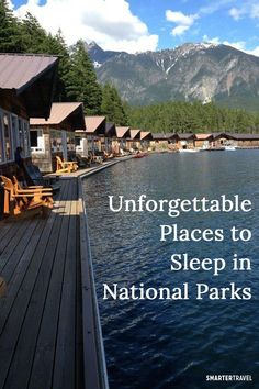 10 Unforgettable Places to Sleep in National Parks 10 Unforgettable Places to Sleep in National Parks,Travel A cabin floating on a lake. A boutique hotel. A yurt. Around North America, national parks offer incredible. Vacation Places, Vacation Trips, Dream Vacations, Vacation Spots, Vacation Travel, Vacation Ideas, Fun Places To Travel, Midwest Vacations, Dream Trips
