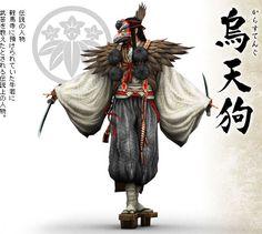 Gang that uses crude crow people masks. Japanese Mythology, Japanese Folklore, Character Concept, Character Art, Concept Art, Samurai Art, Samurai Warrior, Japanese History, Japanese Art