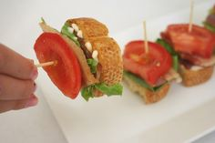 adorable & delicious appetizer... bite-size BLTs.  These would go quickly.