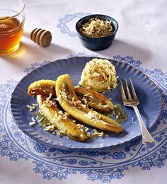 Unser beliebtes Rezept für Gebratene Honig-Banane mit Kokoseis und mehr als 55.000 weitere kostenlose Rezepte auf LECKER.de.