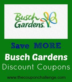 Visit one of our favorite amusement parks and save money with Busch Gardens Discount Coupons.  Buy tickets before you go to save time and money!
