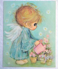 Vintage Mary Hamilton Little Angels Card  by Pumpkintruckpaper