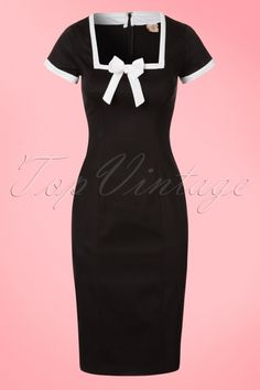 Dancing Days by Banned - 60s Lysa Pencil Dress in Black