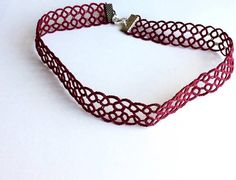 Hey, I found this really awesome Etsy listing at https://www.etsy.com/uk/listing/511376570/simple-lace-choker-burgundy-red-purple