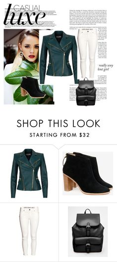 """Follow"" by adorotic ❤ liked on Polyvore featuring Balmain, Ted Baker, H&M, ASOS and Haze"