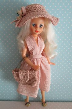 Sindy Pedigree and Bibi bo pink handmade outfit.