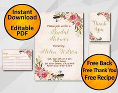 #Editable #Watercolor Bridal Shower Invitation Peach / Gold by Digi Invites https://www.etsy.com/shop/DigiInvites/  SALE 60% OFF  - Free Recipe Card - Free Thank You Card - F... #watercolor #editable #printable #sale ➡️ https://www.etsy.com/digiinvites/listing/544083601/bridal-shower-invitation-instant?utm_campaign=products&utm_content=817356f4852c4794bfdb784d9bdd27b2&utm_medium=pinterest&utm_source=sellertools
