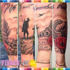 Rememberance tattoo done by Stu at Pierce Of Art 01773 521212 #poppy #tattoo…