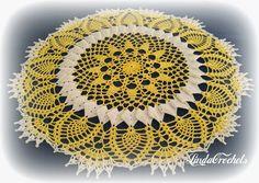"I'd like to present to you the ""Sunshine Lace Doily"" designed by Cylinda Mathews. It's a free pattern on her website Crochet Memories . Crochet Doily Patterns, Crochet Doilies, Crochet World, Lace Doilies, Free Pattern, Crochet Earrings, Projects To Try, Abundant Life, Mandala"