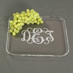 Monogrammed Acrylic Square Tray ($37.95)