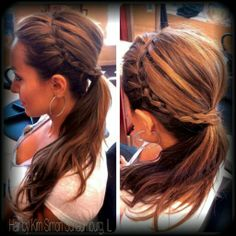 #Braid Ponytail Updo by Kim Simon LifeSpa|Salon Schaumburg, IL 847-466-2424 25% OFF NEW CLIENTS FOR MENTIONING THIS PIN!
