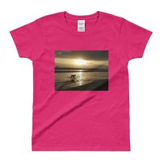 Doberman at the Beach - Ladies - Womens T-shirt - A day in a Dogs Life!  #Custom #Womens #Dog #photo #products #mugs #Art #Artwork #coffee #Youth