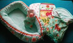 Lovely baby set from our customer Veronika S., Love Grows Here, Karla Dornacher, Quilting Treasures Baby Set, Baby Car Seats, Quilting, Fabrics, Teal, Hands, Love, Children, Handmade