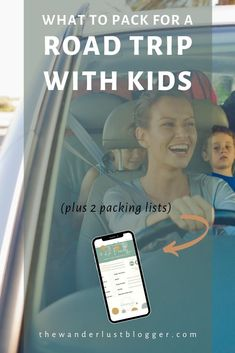 Heading out on a family road trip, possibly in a small car? Grab our essential packing list to keep the kids busy, calm and engaged in the road trip, along with tips for rest breaks gas station breaks, snacks, temperture/comfort, and more. Road trips with kids don't have to be a nightmare! Don't miss this family travel blog post from The Wanderlust Blogger. #thewanderlustblogger Road Trip With Kids, Family Road Trips, Travel With Kids, Family Travel, Ways To Travel, Packing Tips For Travel, Budget Travel, Road Trip Essentials, Road Trip Hacks