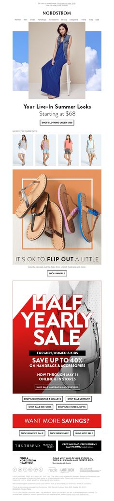 Nordstrom - Smile! Treat Yourself to Our Summer Staples for As Low As $68 + More…