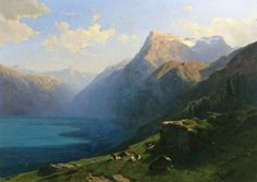 The Athenaeum - View of Lake Lucern from Seelisberg (Alexandre Calame - )