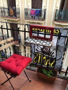 Barcelona Balcony, The Neighbourhood, Barcelona, Steel, Wood, Table, The Neighborhood, Woodwind Instrument, Timber Wood