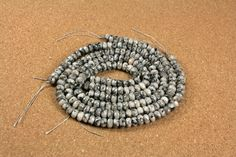 Norwegian Moonstone Faceted Rondelle Beads Black and White Faceted Beads, 8mm, 16 inch strand Measures 8mm