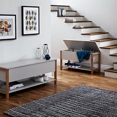 Buy John Lewis Northgate Flip-top Storage Bench, Oak, L90cm Online at…