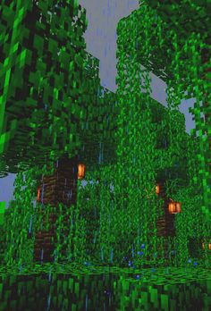 Minecraft jungle #gif