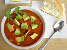 Summer gazpacho - Budget Bytes 1 (28 oz.) can crushed tomatoes - 2 c ...